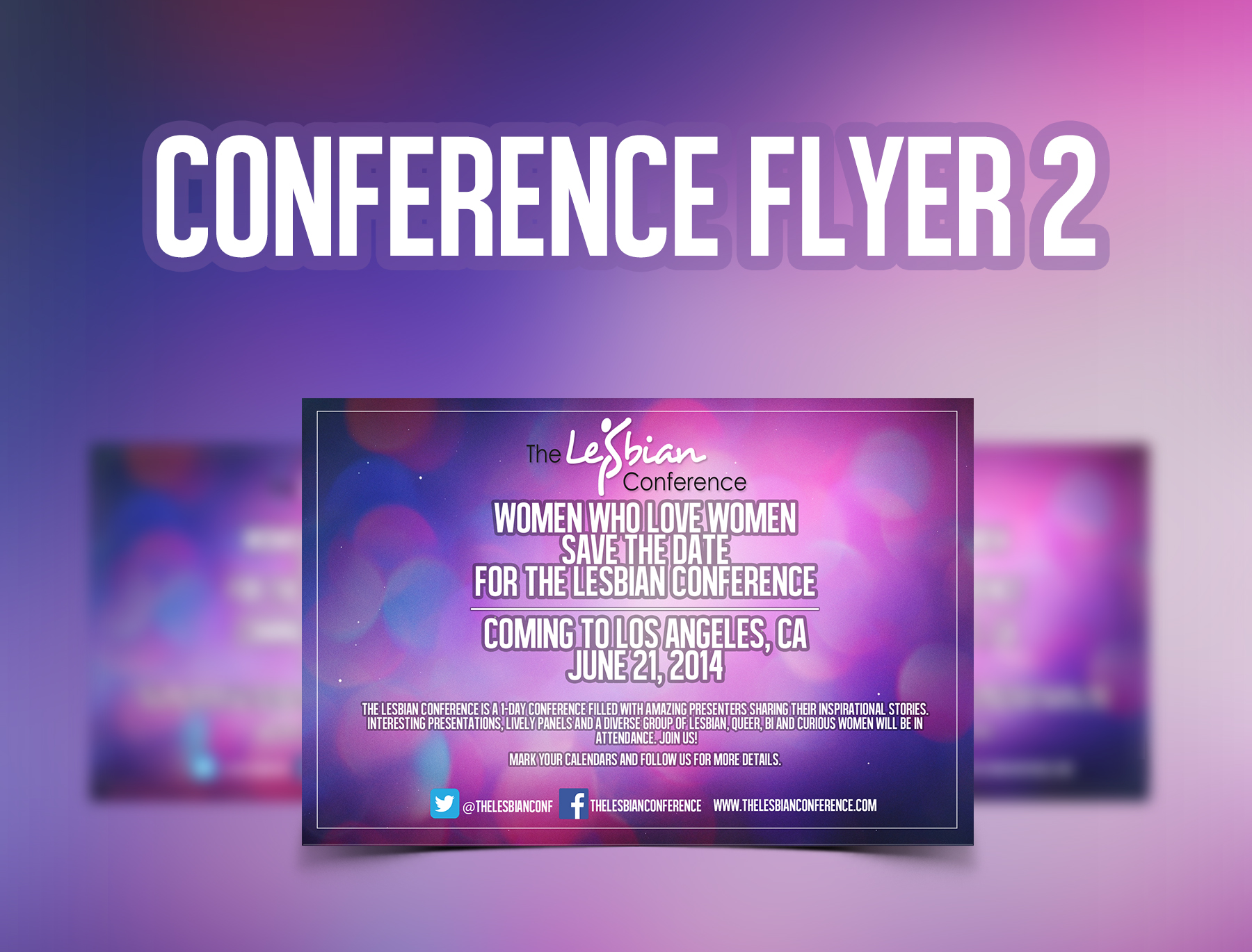 Conference Flyer Template 2 FREE PSD Template – Conference Flyer Template