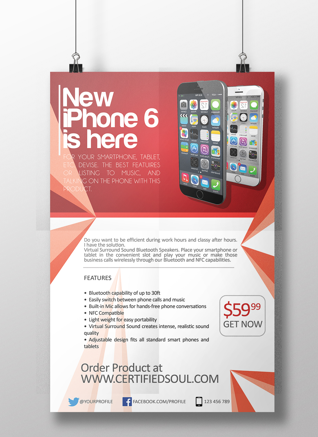 Smartphone Flyer Template PSD Flyer Designs Graphicfy – Now Hiring Flyer Template