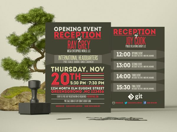 Event Program Template | Psd Archives Graphicfy