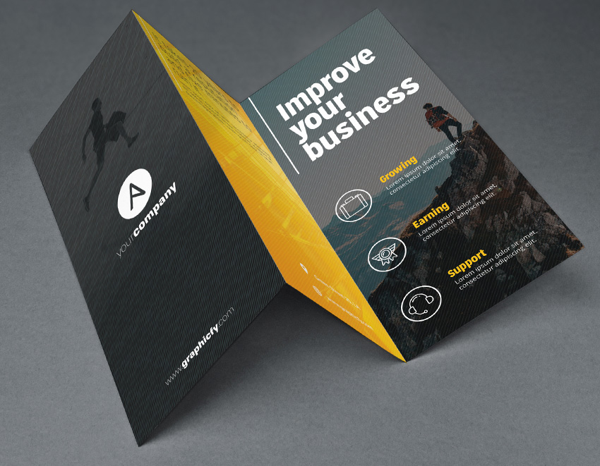 Tri Fold Brochure Template PSD Brochure Templates Graphicfy - Brochure templates psd
