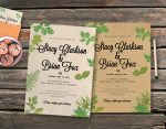 Wedding Leaves Vintage Invitation Template