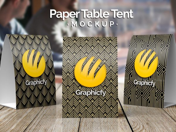 Paper Table Tent Mockup