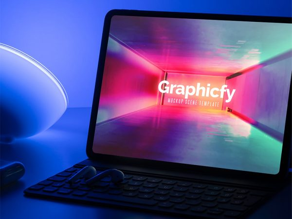New iPad Pro Dark Mockup