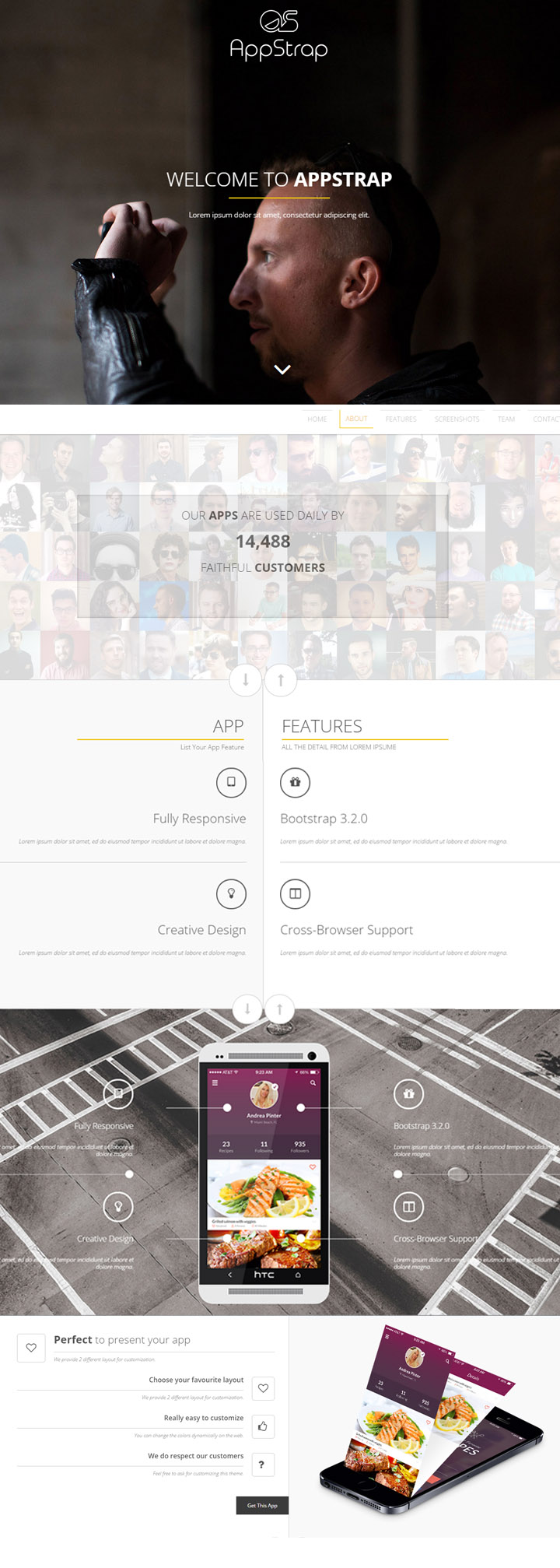 AppStrap – Bootstrap App Landing Page