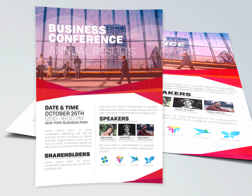 conference brochure templates - business conference flyer template corporate flyers