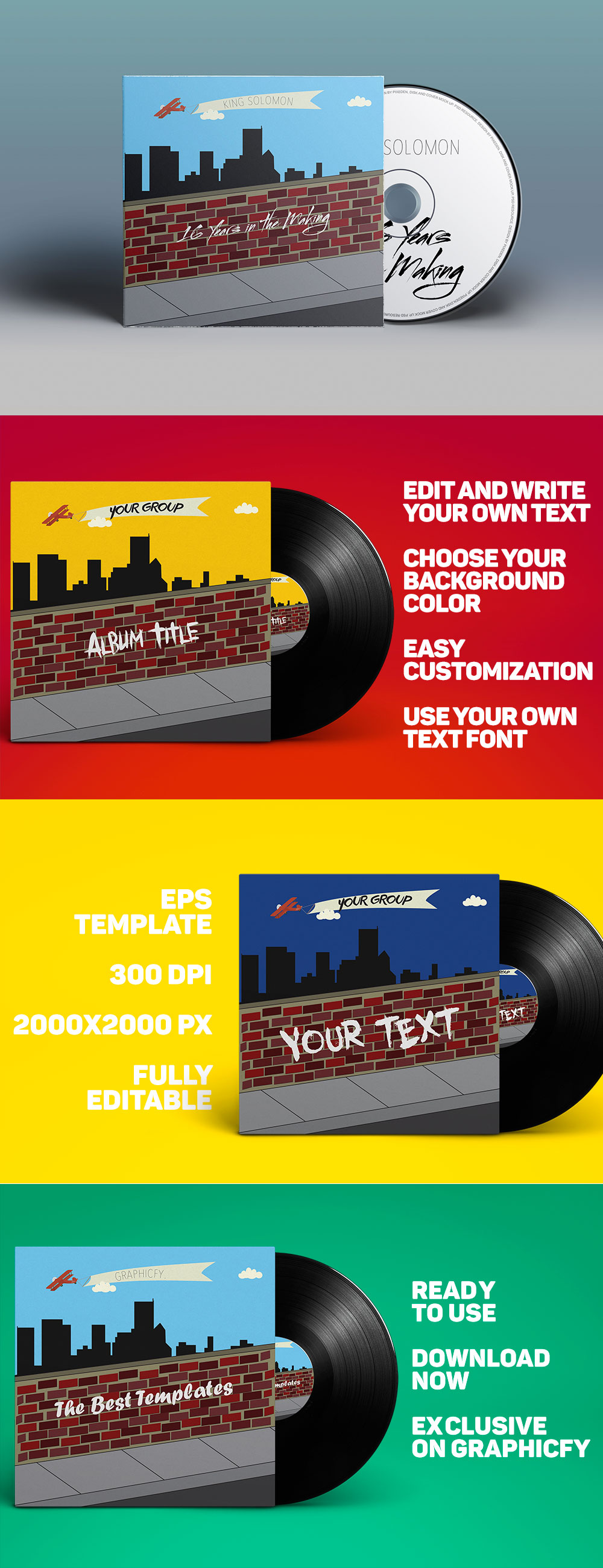 City-Album-EPS-Template