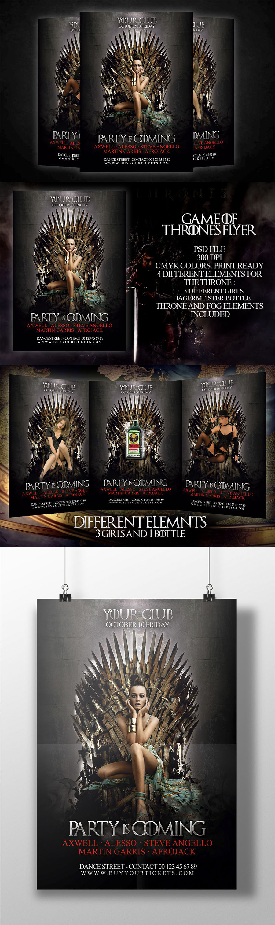 Game of thrones Flyer PSD