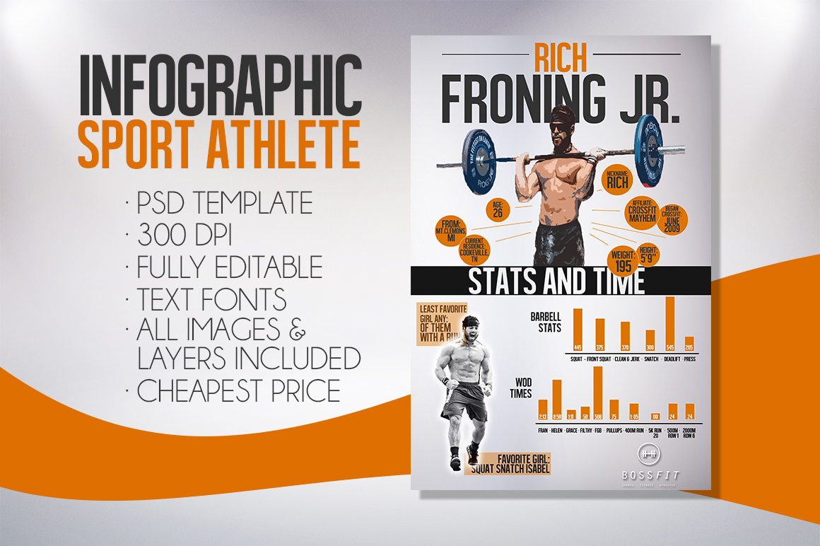 Infographic Sport Psd Template Graphicfy