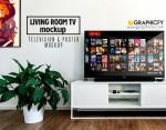 Living Room TV Mockup Template