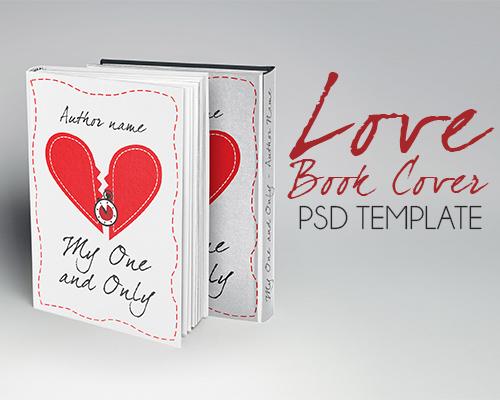 Book Cover Template Ai ~ Love book cover ai template graphicfy