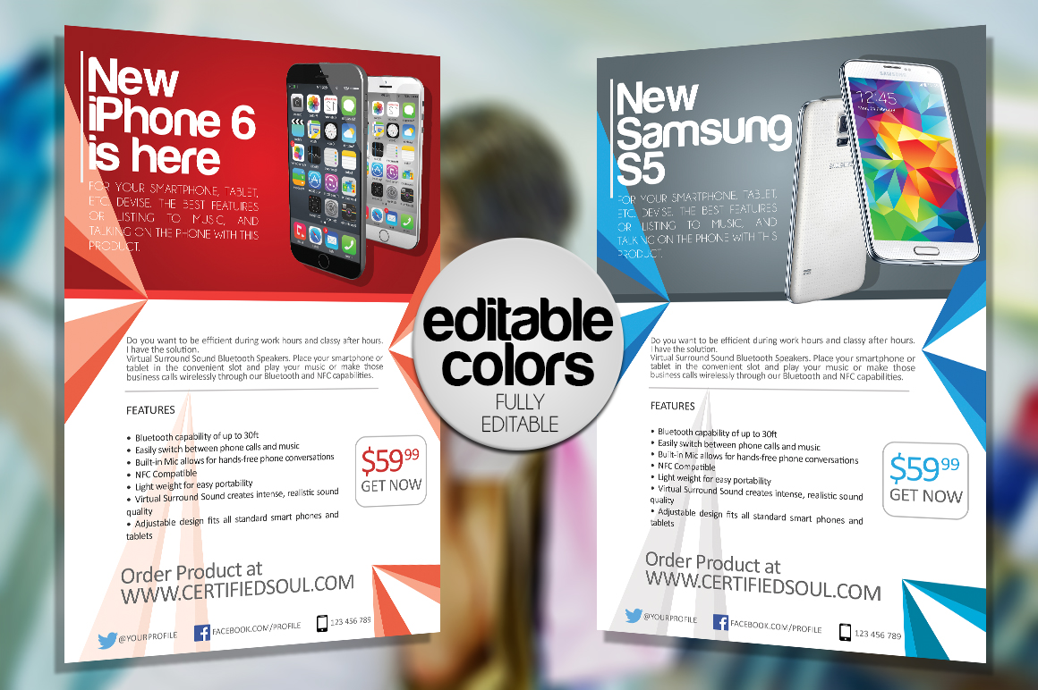 Smartphone Flyer Template Psd Flyer Designs Graphicfy