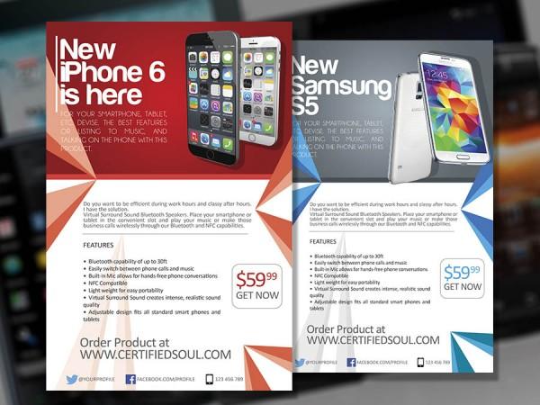 Smartphone Flyer Template PSD