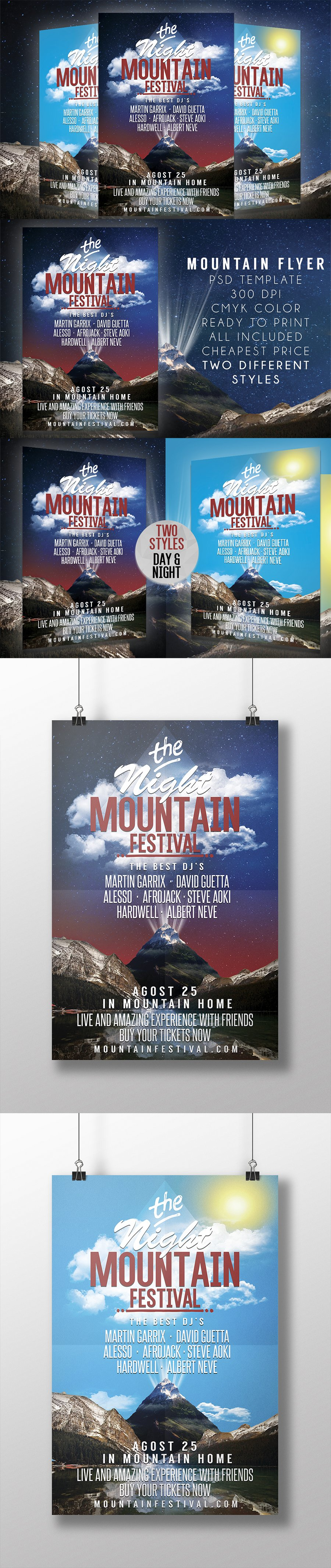 Mountain Festival Flyer Template PSD