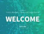 FRESH – One Page Coloured Theme