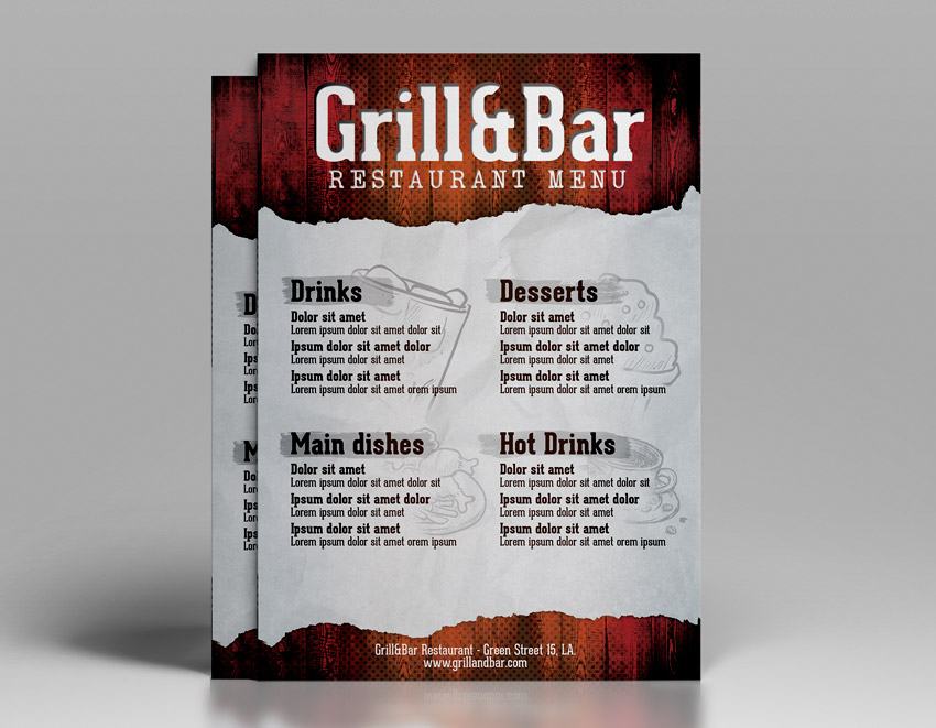 Restaurant Flyer Template  Download Psd Designs