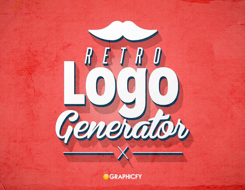 3d retro logo generator graphicfy. Black Bedroom Furniture Sets. Home Design Ideas