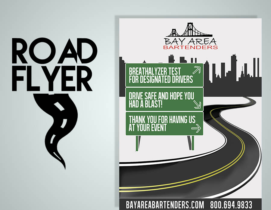 road flyer template free psd