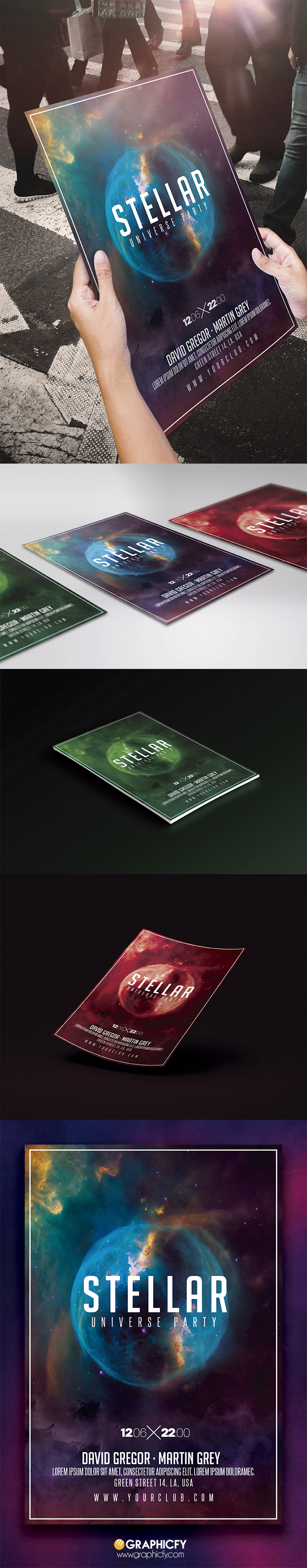 Nightclub Space Flyer Template PSD