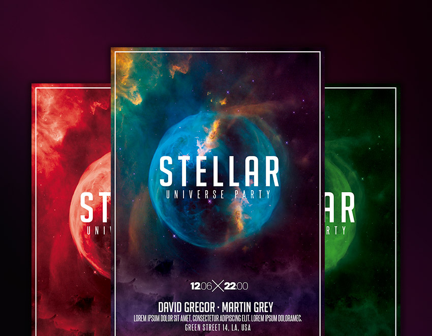 nightclub space flyer template download graphicfy flyers