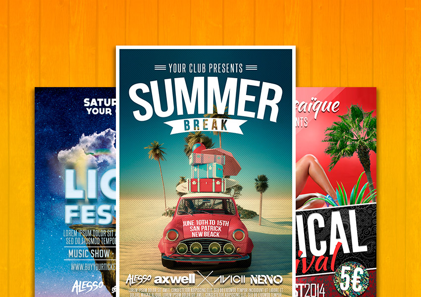 The Best Summer Flyer Templates Of 2016 Graphicfy