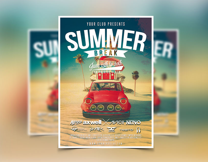 Summer Flyer Template  Party Flyers Designs  Graphicfy