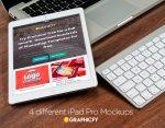 4 iPad Pro MockUp Templates
