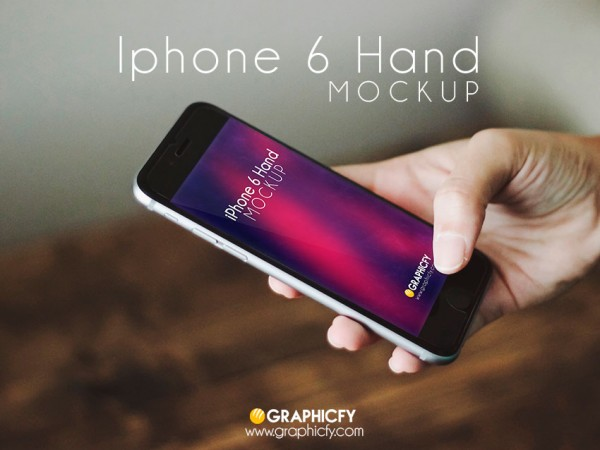 iPhone 6 Mockup in hand