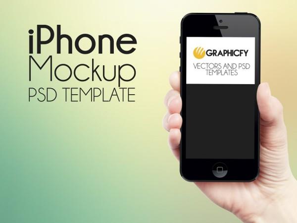 iPhone hand mockup