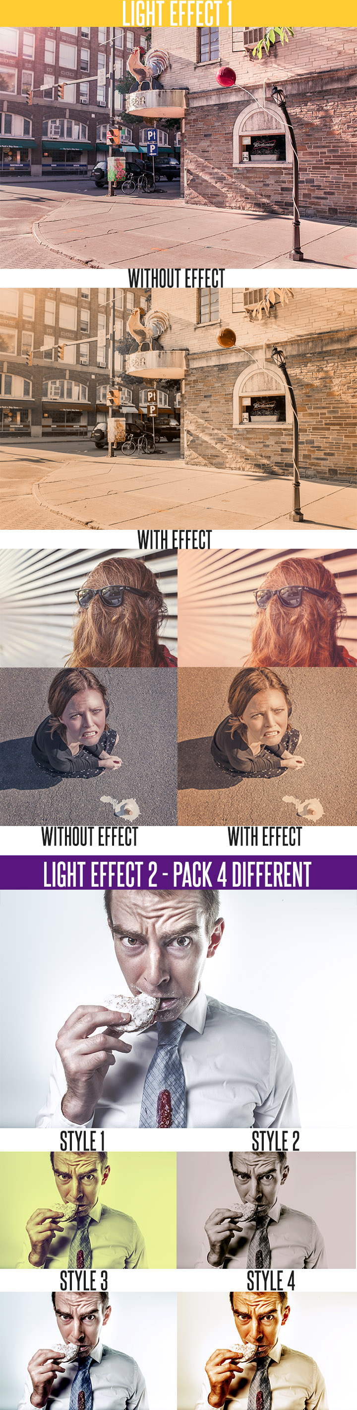 light effect photoshop actions