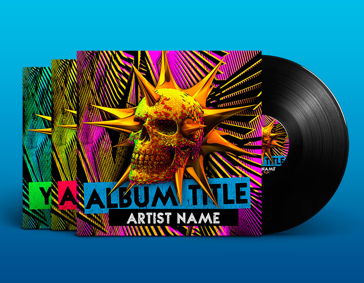 Edm Album Cover Psd Template - Download - Graphicfy