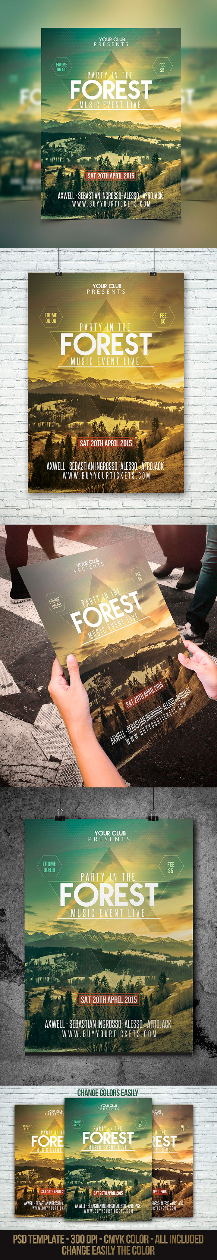 Forest-Party-Festival-Flyer-PSD-Template
