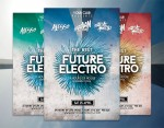 Futuristic Flyer Party Festival Template PSD