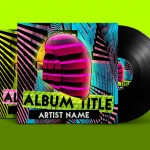House Album Cover PSD Template