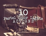 10 Pastel Color Lights Photoshop Actions