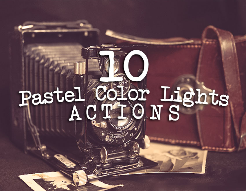 Pastel Color Lights Photoshop Actions