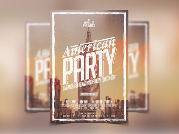 American Party Club Flyer