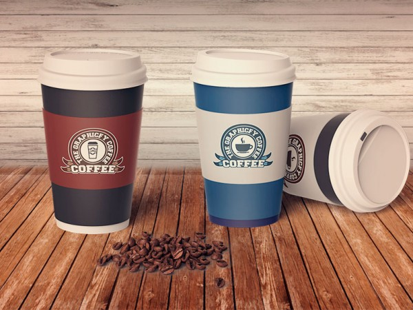 cafe logo psd template