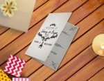 Wedding Program Template 2 Sides PSD