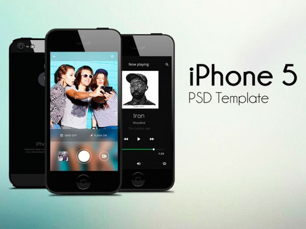 iPhone 5 Template PSD