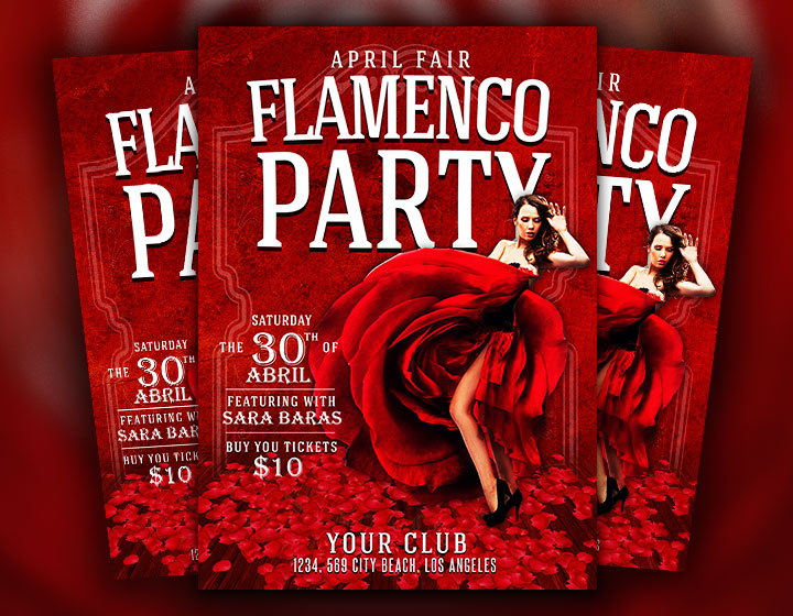 flamenco flyer psd template