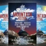 Mountain Festival Party Flyer PSD
