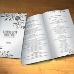 Wedding Program Template PSD 2 Sides